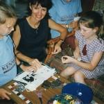 Margaret working with the children